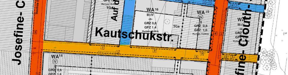 Baugruppe Kautschukstaße in der WoGe Köln eG.